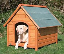 New listing Cabin Style Dog House Pitched Roof Shingles Wooden Puppy Pen Shelter Outdoor Pet
