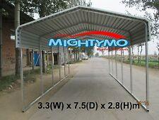 Single STEEL Carport, Shelter 3.3x7.5m Yard, Backyard shelter, Portable Carports