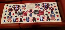 Cranston STARS & STRIPES Patriotic USA American Fabric Panel Appliques NEW!