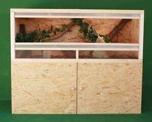 Holz Terrarium 150 x 60 x 60 cm mit Unterschrank OSB