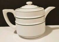 Green Stripe Ceramic Coffee Pot  DRIP-O-LATER Enterprise Aluminum Co.  TRADEMARK