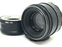 HELIOS 44-2 58mm f/2 USSR Lens M42 + Adapt. Fuji Fujifilm X Mount FX SERVICED