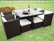 Merax 9 PCS Outdoor Home Garden Lawn Patio Wicker Rattan Furniture Dining Set