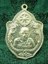 Coin Twin Dragon Talisman LP Aer Wat Bandan Power Thai Buddha Amulet Pendant