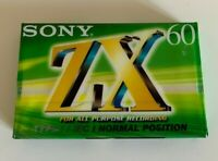 One(1) SONY cassette tape ZX 60 US/EU version Perfect condition