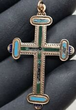 Big Russian Imperial OLD 56 gold cross Enamel 2.46g