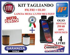 KIT TAGLIANDO LANCIA MUSA 1.3 MULTIJET  FILTRI + OLIO MOTORE IP SINTIAX 5W40