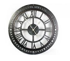 Orologio da parete in metallo geometrica-Numeri Romani-Grigio - 68cm-NEW & BOXED