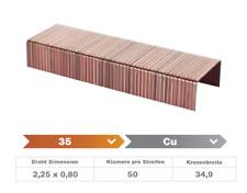 Heftklammer 35/22 CU - 1.600 Stück