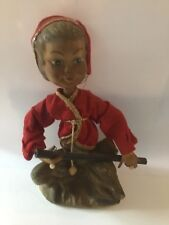 Vintage 7in Dabs Elf Figurine with Lyre - Plastic - Hong Kong