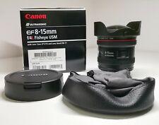 Canon EF 8-15mm f/4L Fisheye USM Ultra-Wide Zoom Lens- con scatola-come nuovo