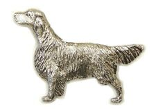 English Setter Brooch, Silver Plated