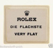 ROLEX DIE FLACHSTE/VERY FLAT - SIGN / SCHILD OFFICAL AGENT - ROHSEIDE - 1960er