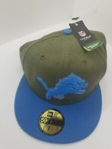 Detroit Lions New Era 18 Salute to Service Sideline 59FIFTY Fitted Hat 7 1/2 NWT