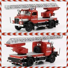 IFA S 4000-1, D-25 Leiterwagen, Horch DDR Feuerwehr Modell 1:43 mit Drehleiter
