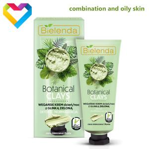 Bielenda Botanical Clays GREEN CLAY Face Cream For Combination Skin 50ml VEGAN