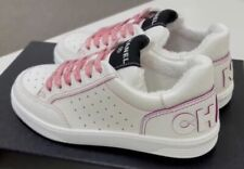 NIB Chanel Spring-Summer CHA NEL white & pink sneakers