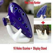 12 Hole Ocarina Instrument Ceramic Alto C Legend of Zelda Ocarina Flute Blue