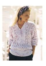 "Knitting Pattern Ladies Summer Sweater Top PATTERN ONLY 28-42"" DK #ha106"
