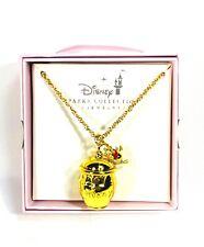 Disney Parks Kingdoms + Castles Gold Honey Jar Winnie The Poh Necklace New