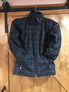 obermeyer womens ladies size 4 dolly sport jacket 81104 polyester tweed estate
