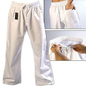 ProForce Gladiator 8 oz. Combat Karate Gi Uniform Pants Child Youth Adult White