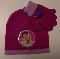 Ensemble Gants et Chapeau Original Violet Fuchsia Disney Love Music Passion