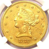 1872-S Liberty Gold Eagle $10 Coin - Certified NGC AU Details - Rare Date!