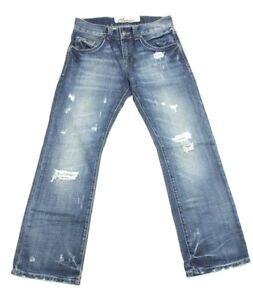 LTB Claudio Milano Men's Blue Jeans Distressed Denim Retail