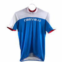 Castelli Cycling Jersey Half Zip Up Blue/ White Men's Size L