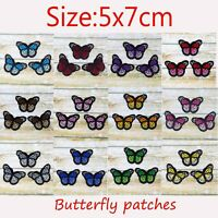 2/10 Butterfly Sew Iron On Patch Cloth Embroidery Applique Fabric Badges Patches