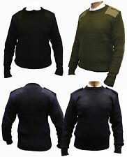 Adults Military Army Jumper Sweater Security Pullover Commando Police Round Neck