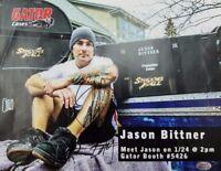 """Shadows Fall"" Jason Bittner Hand Signed 10X8 Color Photo PAAS COA"
