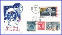 USA3 #C76 U/A JACKSON FDC Combo4  Moon Landing