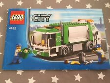 lego City instructions manual 4432 Only Garbage Truck Rubbish Bin Man