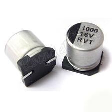 10pcs 16V 1000UF 10*10 SMD Aluminum Solid Electrolyti Capacitor