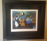 "Picasso's Lithograph Limited Edition ""Still Life with Candle"" Nicely Framed"