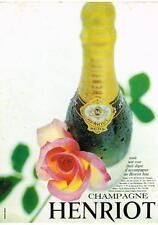 PUBLICITE   1967  HENRIOT  champagne