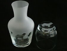 More details for afghan hound dog carafe with matching engraved glass.