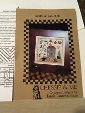 Chessie & Me Summer Sampler Linda Lautenschlager Chart Instructions & Linen