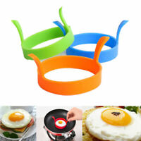 1x Round Silicone Omelette Fry Eggs Ring Pancake Poach Mold Kitchen Cooking Tool