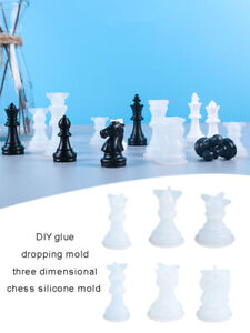 DIY UV Epoxy Resin Mold Jewelry Molds Chess Board Silicone Mold Chessboard Mould