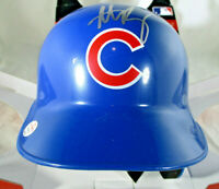 ANTHONY RIZZO / AUTOGRAPHED CHICAGO CUBS LOGO RAWLINGS MINI BATTING HELMET / COA