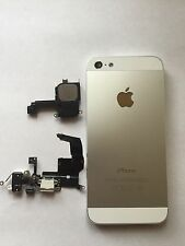 Apple iPhone 5 OEM White and Silver Aluminum Housing Frame GSM Charge Port