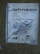 1959 Original Johnson Outboard 18 HP Model FD FDL 13 & 13R Parts Catalog  L