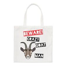 Méfiez-vous fou Chèvre Homme PETIT SAC FOURRE-TOUT - Drôle Animal épaule