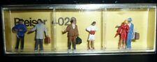 Preiser, Vintage, New Package, Item# 4029, Ho scale, Departing Passengers, 6x