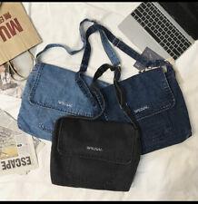 Brand New Nostalgic High-capacity Denim Shoulder Bags Messenger Bags Unisex