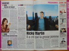 RICKY MARTIN Coupure de presse 1,5 pages 1999 – French Clippings