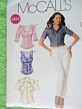 Easy McCall's Set Of Misses Stylish Tops Size 6 To 12 Uncut FF Sewing Pattern